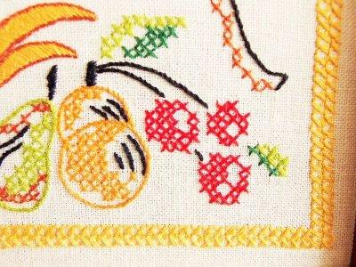 画像3: ビンテージ 刺繍ウォールクロック