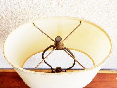 画像1: ビンテージ レッドガラステーブルランプ