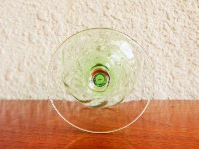 画像1:  ビンテージ グリーン シャンパングラス