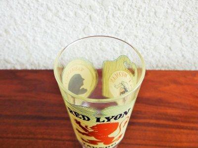 画像1:  ビンテージ RED LYON TAVERNグラス