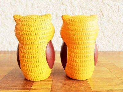 画像1: ビンテージ 70's V.G.inc社製 陶器フクロウソルト&ペッパー