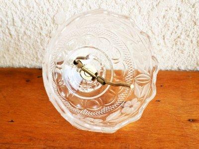画像1: ビンテージ ガラステーブルランプ