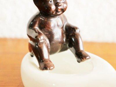 画像1: ビンテージ 40-50's OCCUPIED JAPAN製 陶器アシュトレイ