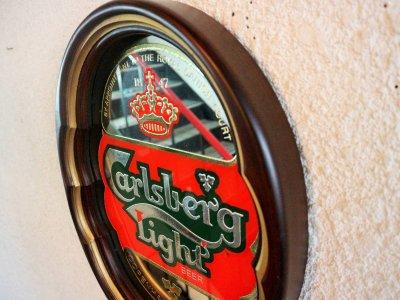 画像1: ビンテージ Carlsberg パブミラー