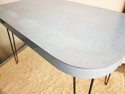 画像1:  ビンテージ 50's ヘアピンレッグダイニングテーブル