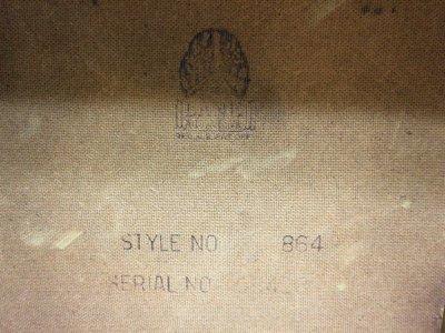 画像2: ビンテージ 50's LANE社製 ウッドバタフライテーブル