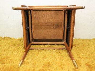 画像1: ビンテージ 50's LANE社製 ウッドバタフライテーブル