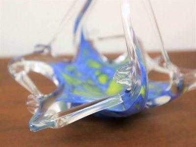 画像1: ビンテージ ガラス小物入れ