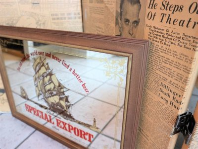 画像1: ビンテージ SPECIAL EXPORT パブミラー