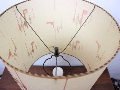 画像1:  ビンテージ 50's 陶器テーブルランプ