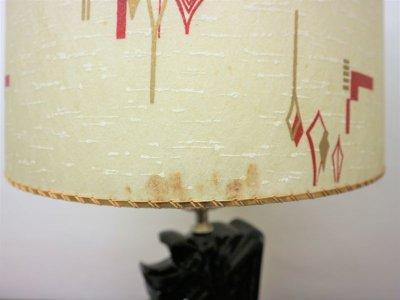 画像3:  ビンテージ 50's 陶器テーブルランプ