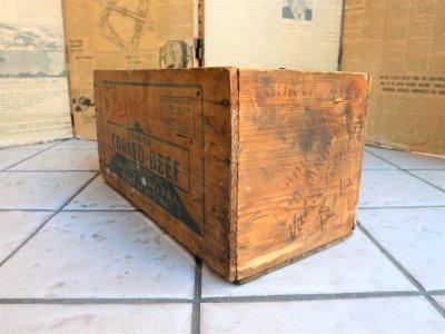 画像2:  ビンテージ CORNED BEEF 木箱
