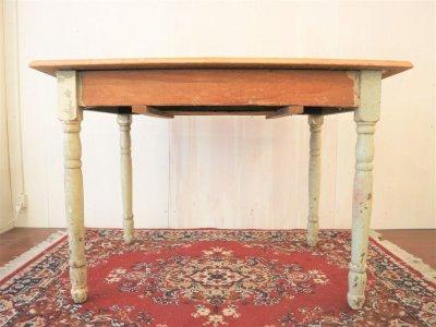 画像3:  ビンテージ シャビーウッドテーブル
