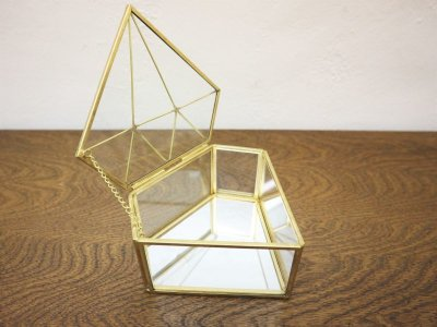 画像2:  ビンテージ ガラス小物入れ