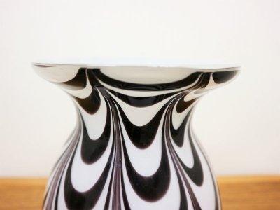 画像1:  ビンテージ ガラスフラワーベース