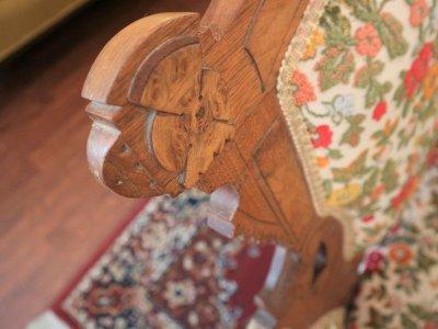 画像3:  ビンテージ ヴィクトリアン花柄ソファ