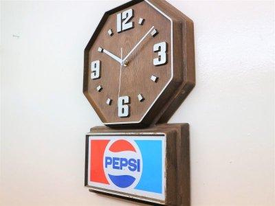 画像1:  ビンテージ PEPSI ウォールクロック