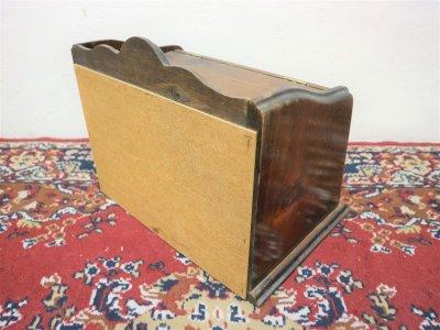 画像3:  ビンテージ ウッドブレッドボックス