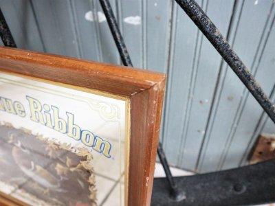 画像2: ビンテージ Pabst Blue Ribbon パブミラー
