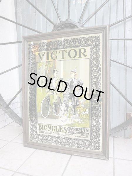画像1: ビンテージ VICTOR BICYCLE パブミラー (1)