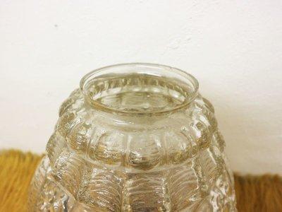 画像2:  ビンテージ クリアガラスペンダントランプ