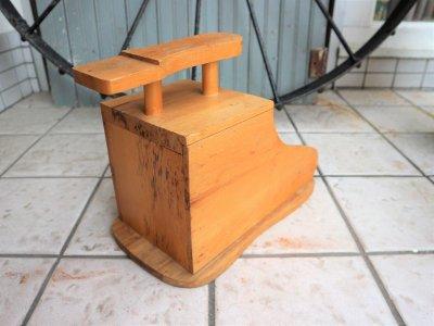 画像3:  ビンテージ ウッドシューケアボックス