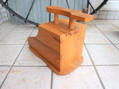 画像2:  ビンテージ ウッドシューケアボックス