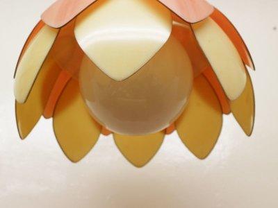 画像2:  ビンテージ 70's フラワーペンダントランプ