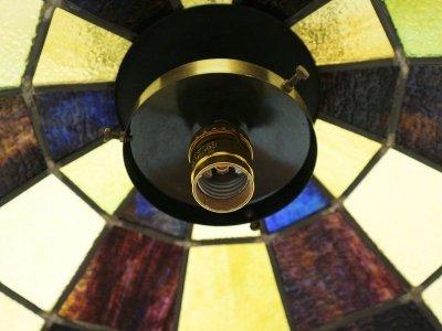 画像2:  ビンテージ 70's ステンドガラスペンダントランプ