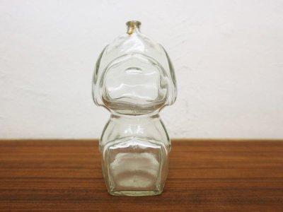 画像1:  ビンテージ スヌーピーガラスコインバンク