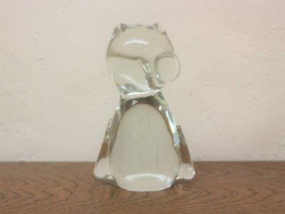 画像2: ビンテージ ガラスフクロウモチーフオブジェ