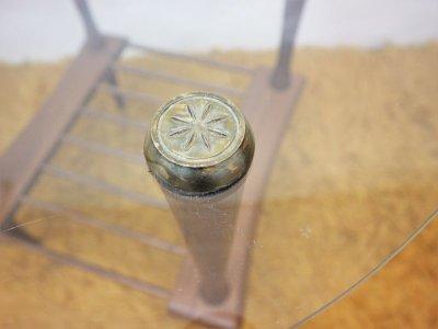 画像2:  ビンテージ 60's ガラストップテーブル