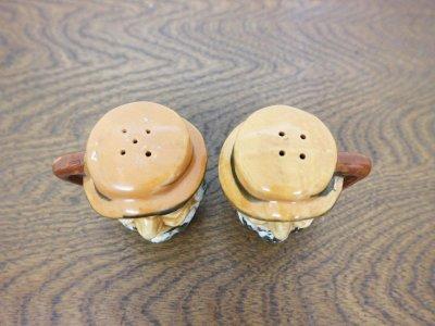 画像2: ビンテージ 陶器 フェイスソルト&ペッパー