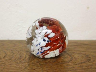 画像1: ビンテージ ガラスペーパーウエイト
