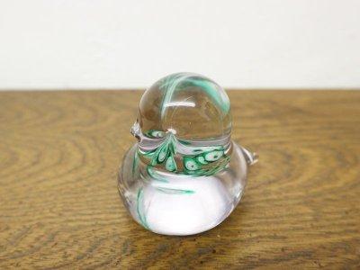 画像1: ビンテージ バードモチーフガラスペーパーウエイト
