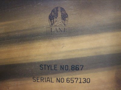 画像3: ビンテージ 50's LANE社製 ステップエンドテーブル