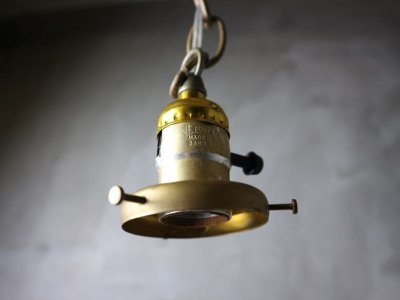 画像3:  ビンテージ ガラスペンダントランプ