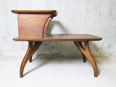 画像2: ビンテージ 60's BASSETT社製 ステップエンドテーブル