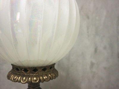 画像2:  ビンテージ オーロラガラスペンダントランプ