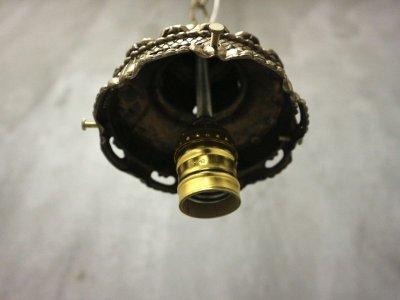 画像3:  ビンテージ オーロラガラスペンダントランプ