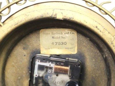 画像3: ビンテージ 60-70's sears社製 サンバーストクロック