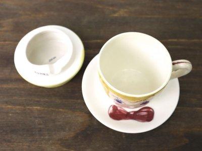 画像1: ビンテージ 50's アシュトレイ付きカップ&ソーサー